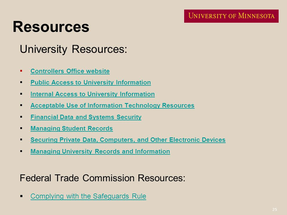 Resources University Resources: Federal Trade Commission Resources: