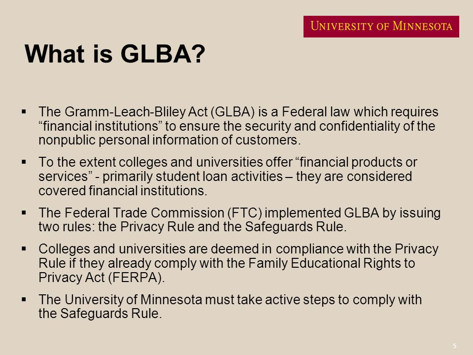What is GLBA