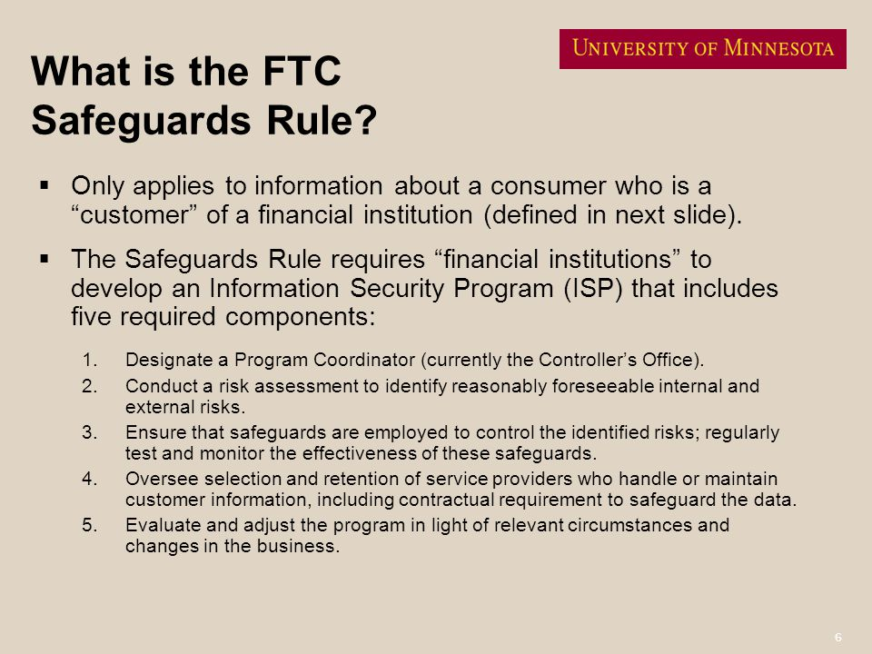 What is the FTC Safeguards Rule