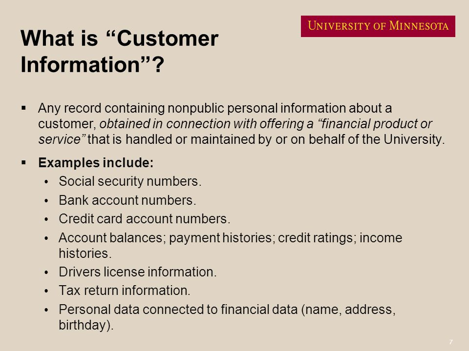 What is Customer Information