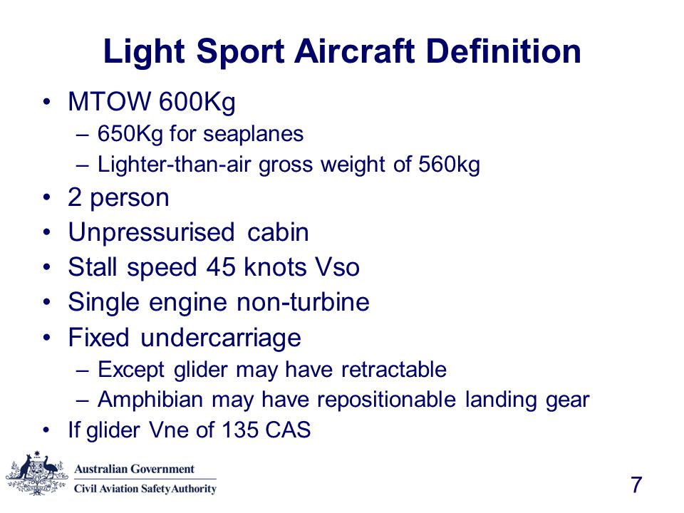 Light Sport Aircraft Definition