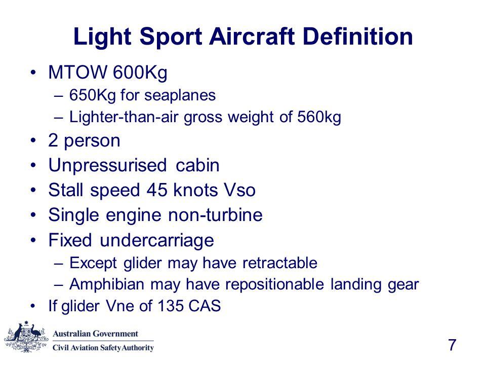 Light Sport Aircraft Definition