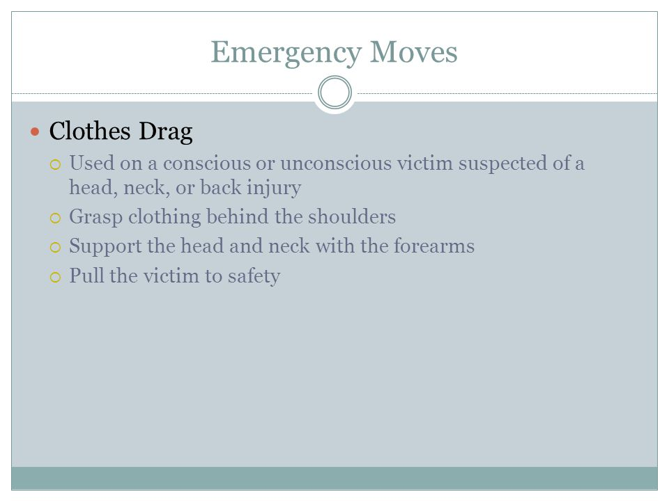 Emergency Moves Clothes Drag