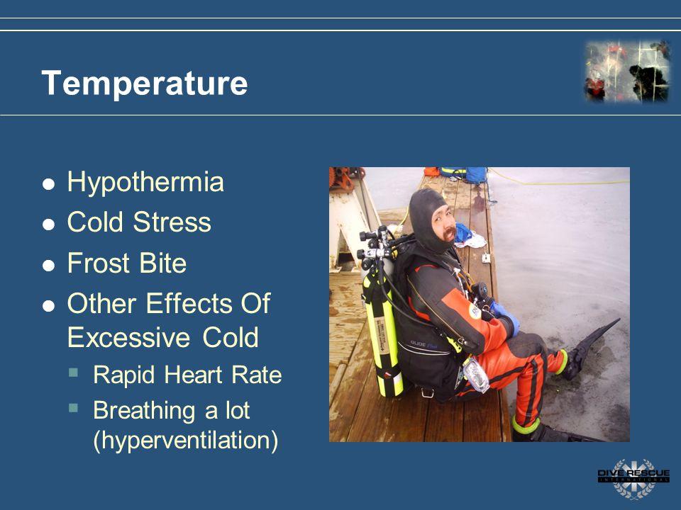 Temperature Hypothermia Cold Stress Frost Bite