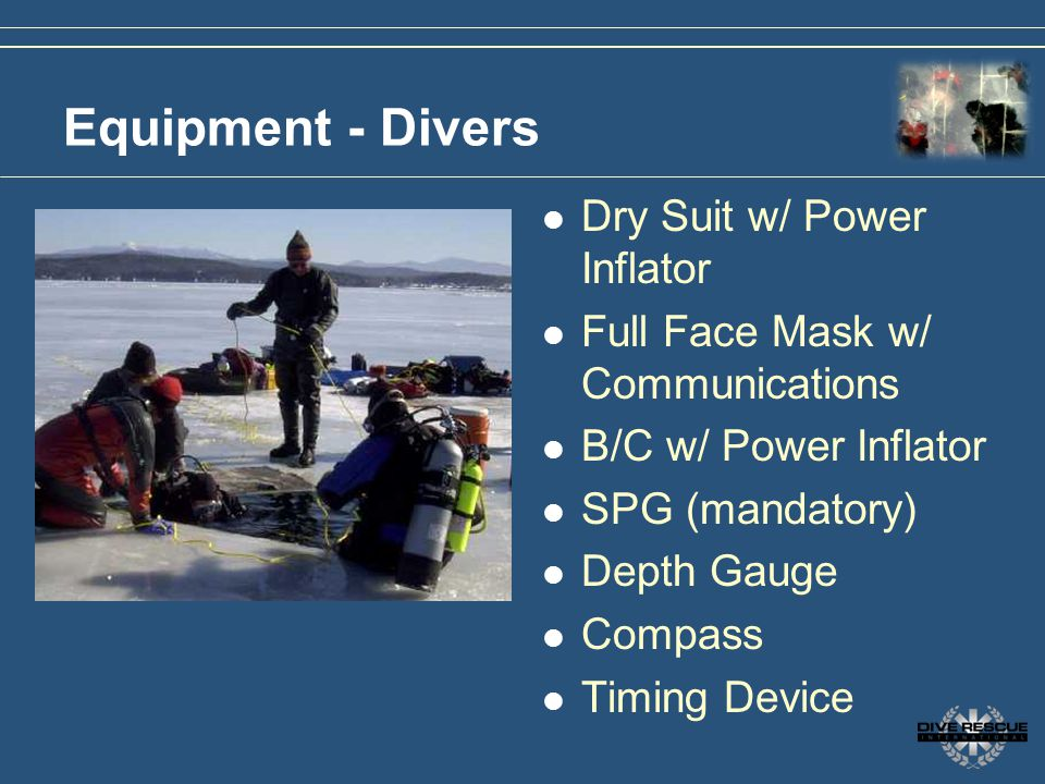 Equipment - Divers Dry Suit w/ Power Inflator