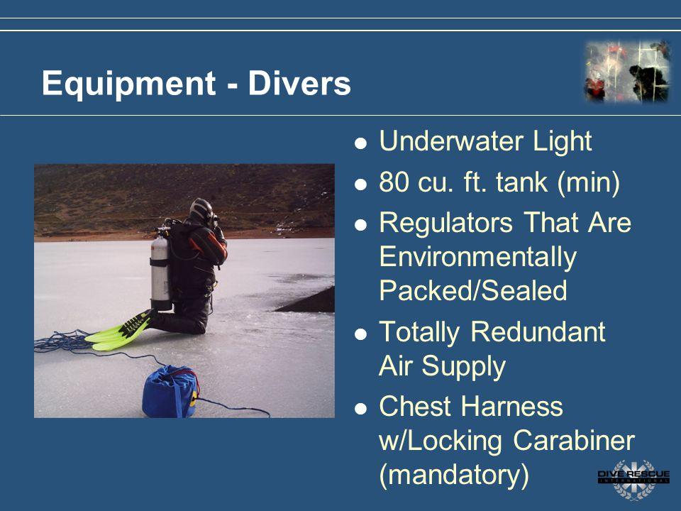 Equipment - Divers Underwater Light 80 cu. ft. tank (min)