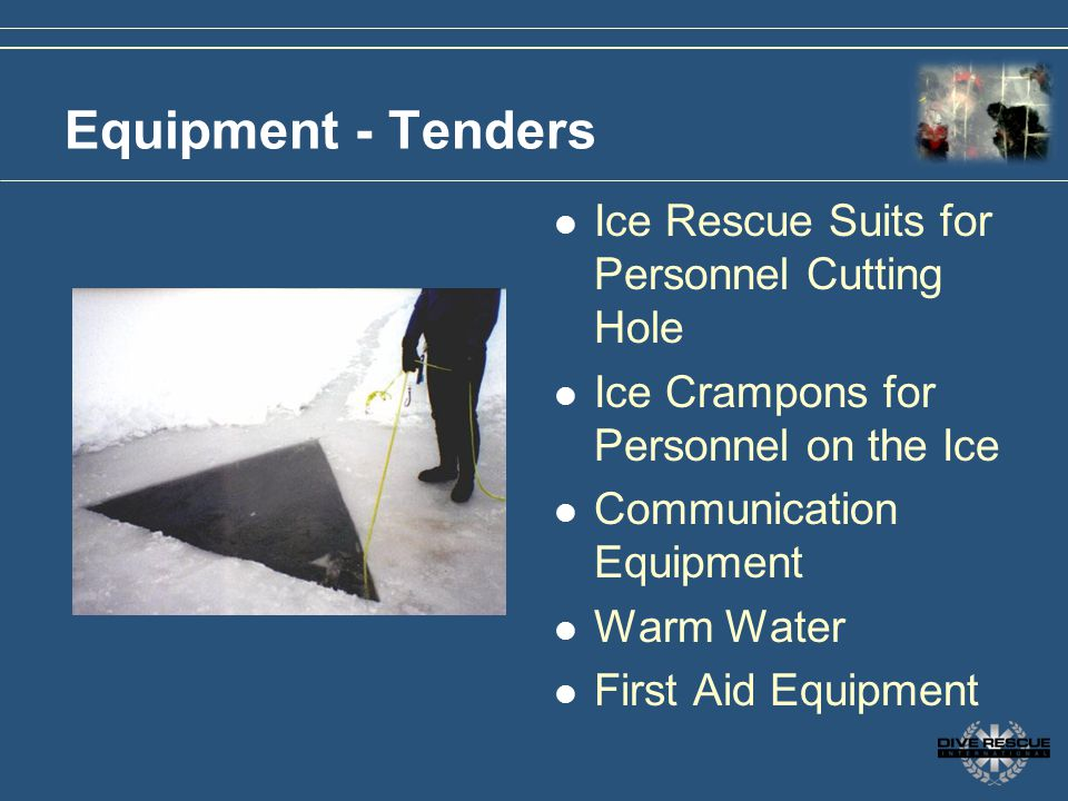 Equipment - Tenders Ice Rescue Suits for Personnel Cutting Hole