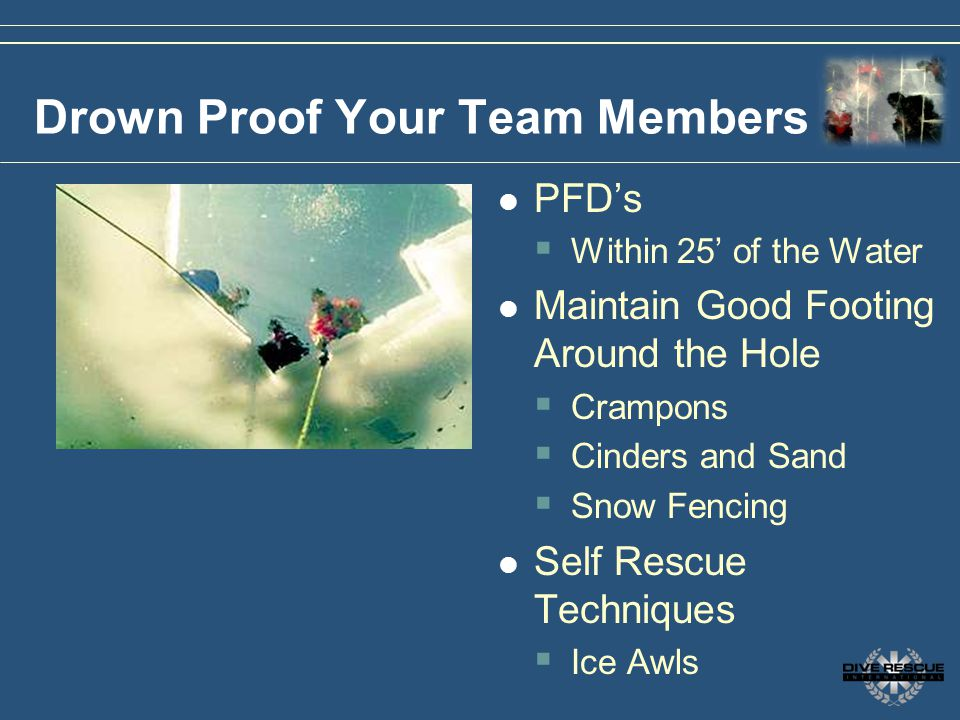 Drown Proof Your Team Members