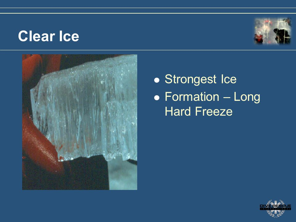 Clear Ice Strongest Ice Formation – Long Hard Freeze