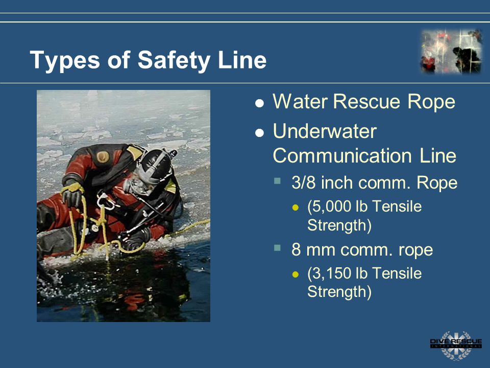Types of Safety Line Water Rescue Rope Underwater Communication Line