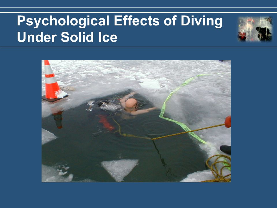 Psychological Effects of Diving Under Solid Ice