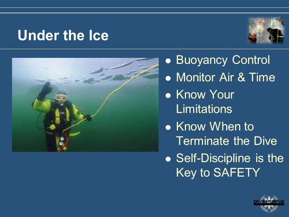 Under the Ice Buoyancy Control Monitor Air & Time