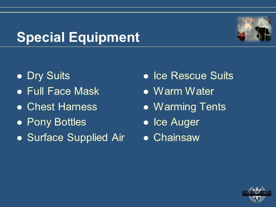 Special Equipment Dry Suits Full Face Mask Chest Harness Pony Bottles