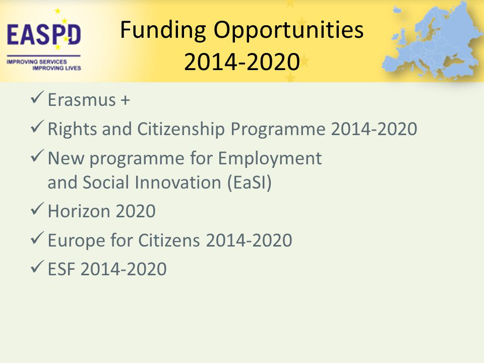 Funding Opportunities 2014-2020