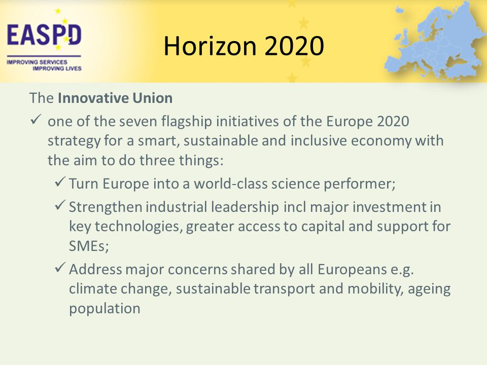 Horizon 2020 The Innovative Union