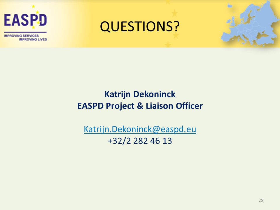EASPD Project & Liaison Officer