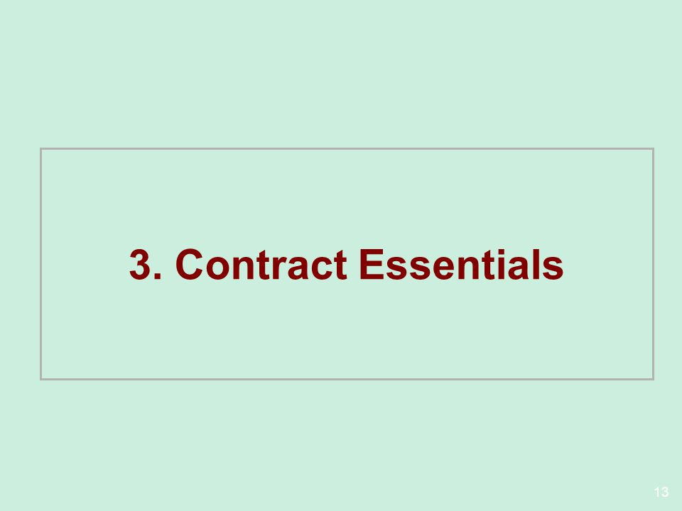 3. Contract Essentials