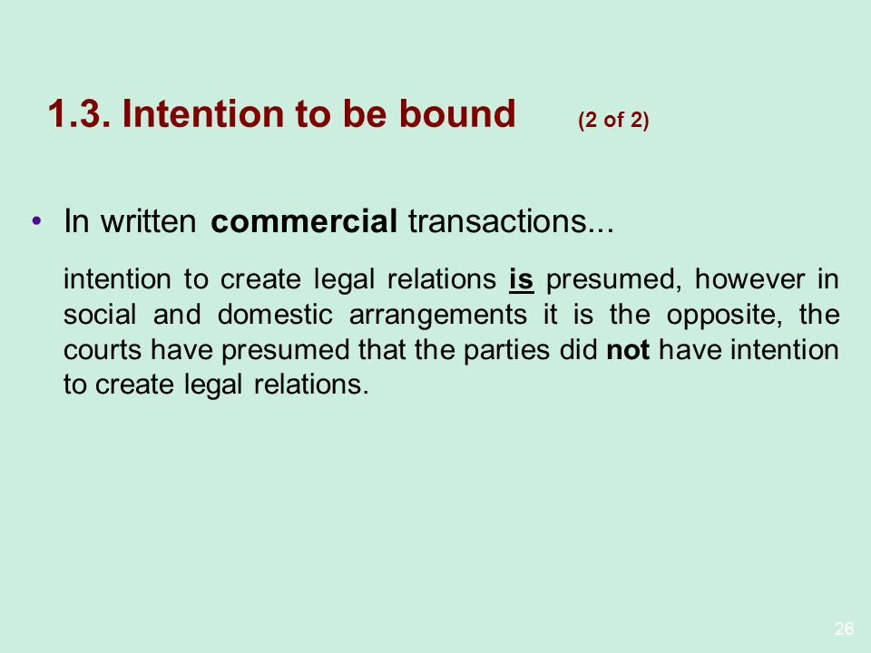 1.3. Intention to be bound (2 of 2)