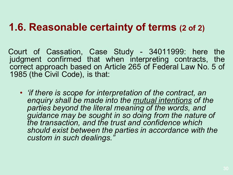 1.6. Reasonable certainty of terms (2 of 2)