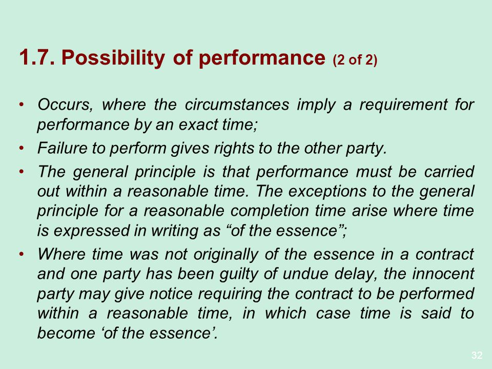 1.7. Possibility of performance (2 of 2)