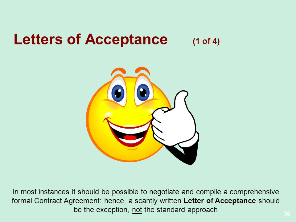 Letters of Acceptance (1 of 4)