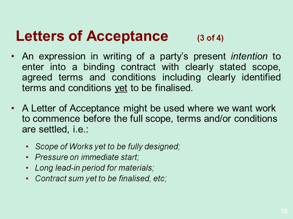 Letters of Acceptance (3 of 4)