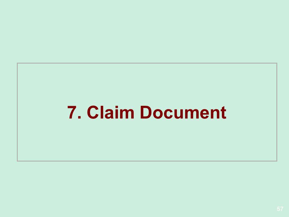 7. Claim Document
