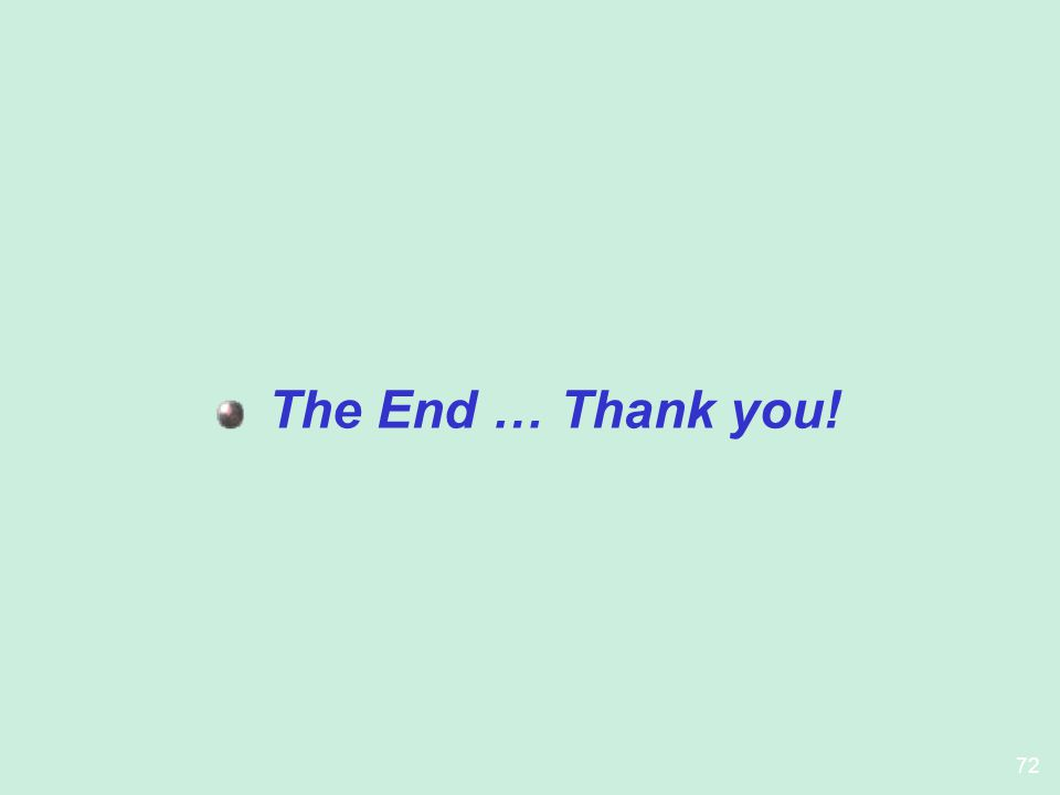 The End … Thank you!