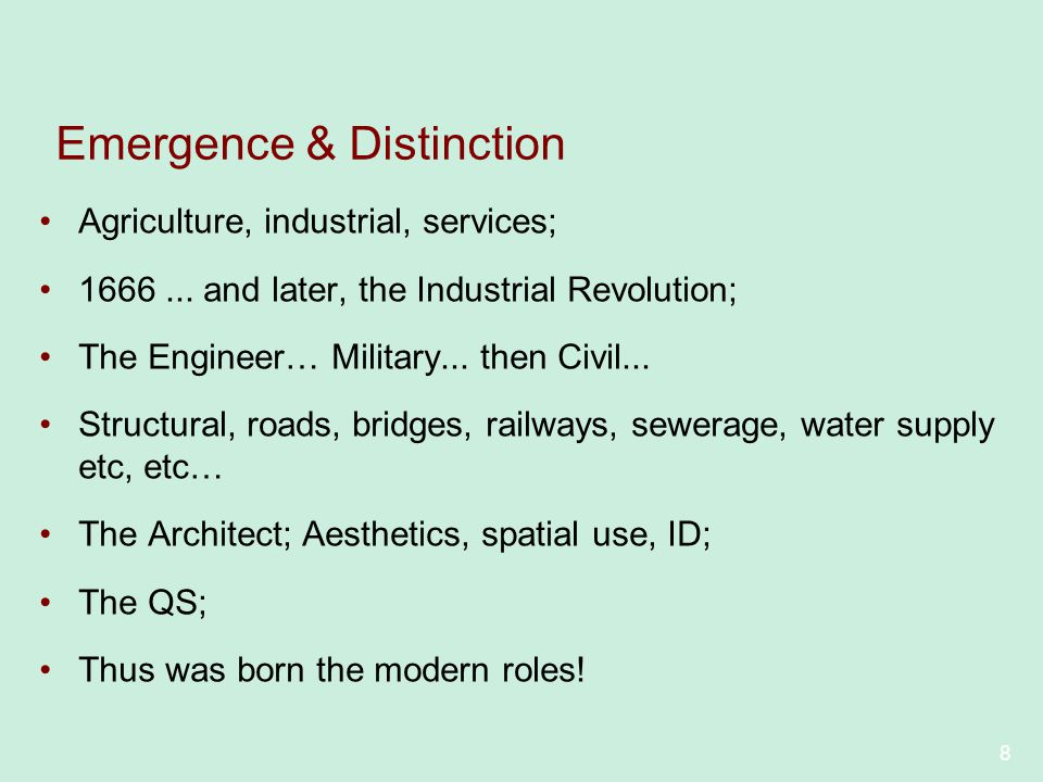 Emergence & Distinction