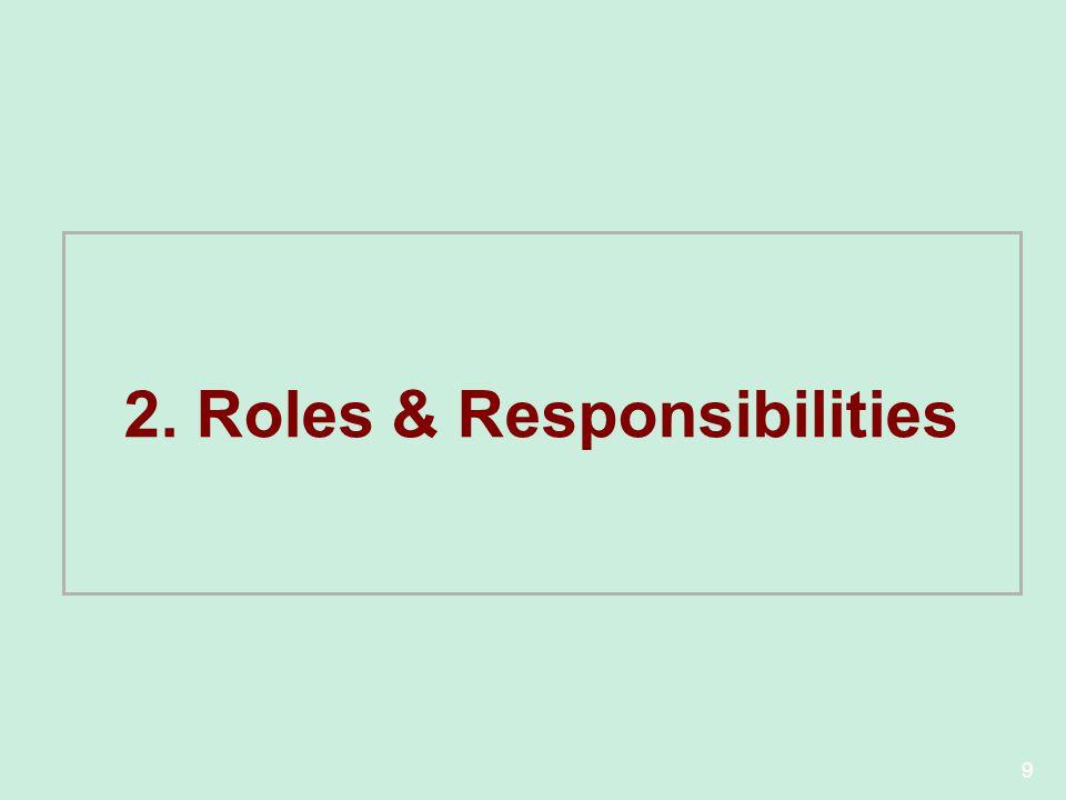 2. Roles & Responsibilities