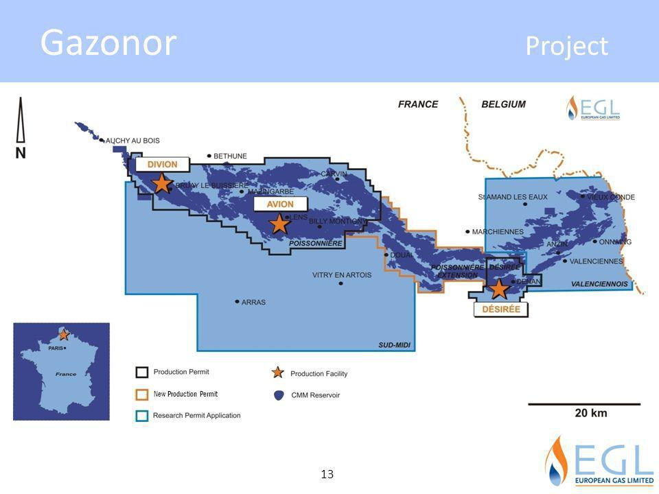 Gazonor Project New Production Permit