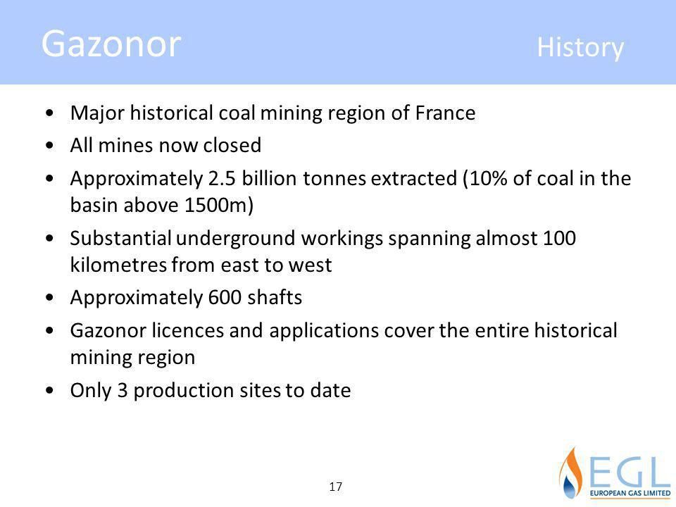 Gazonor History Major historical coal mining region of France