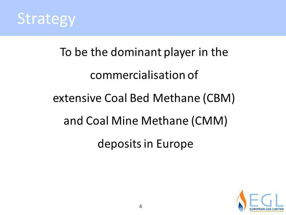 Strategy To be the dominant player in the commercialisation of