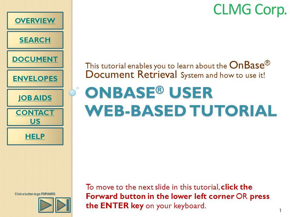 onbase® user web-based tutorial