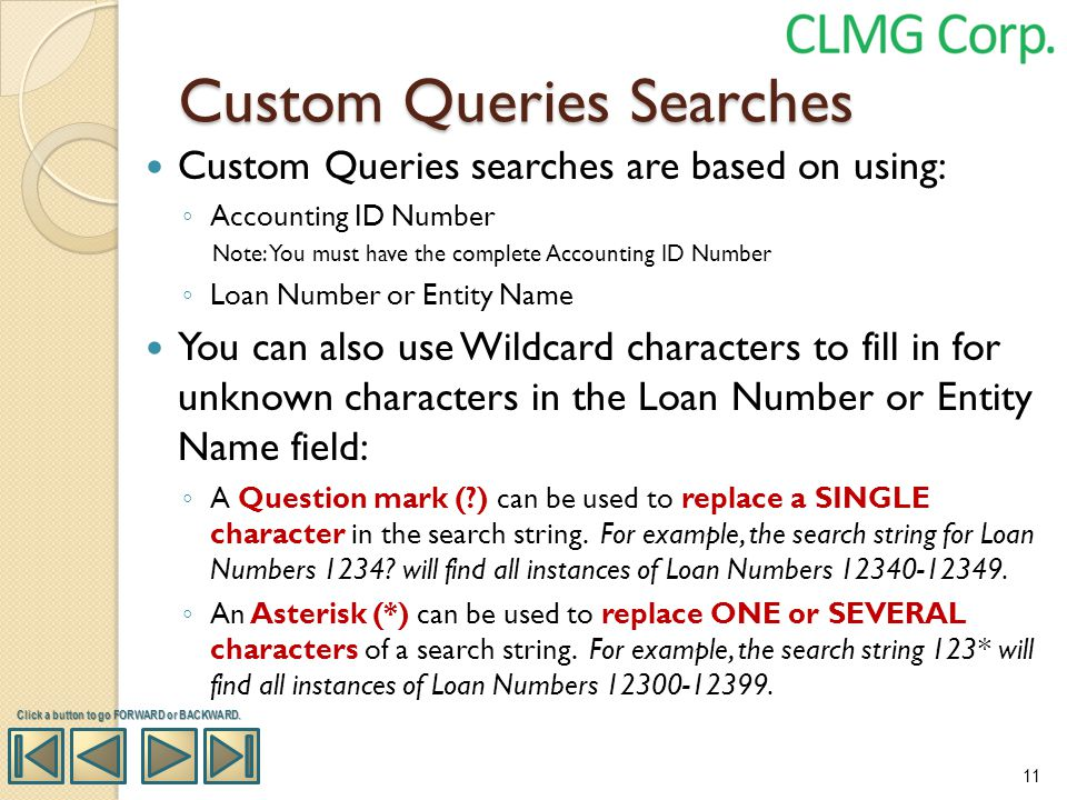 Custom Queries Searches