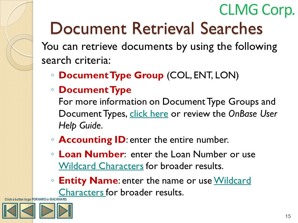 Document Retrieval Searches
