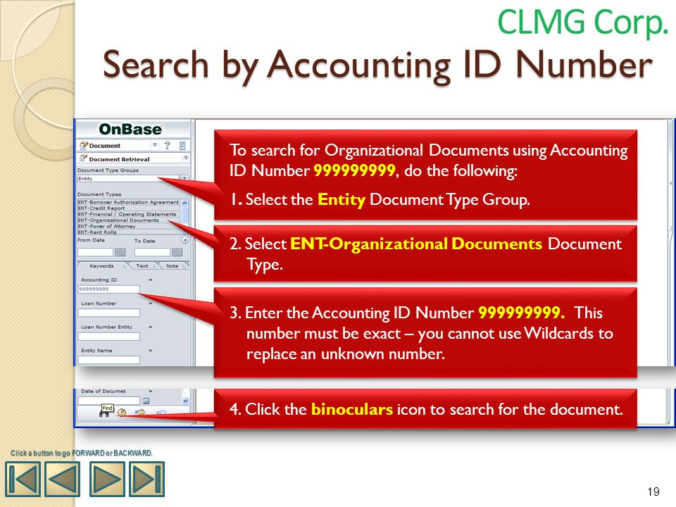 Search by Accounting ID Number