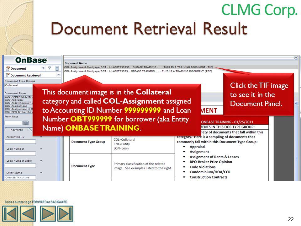 Document Retrieval Result
