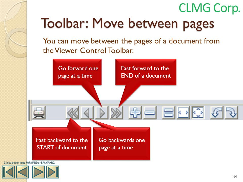 Toolbar: Move between pages
