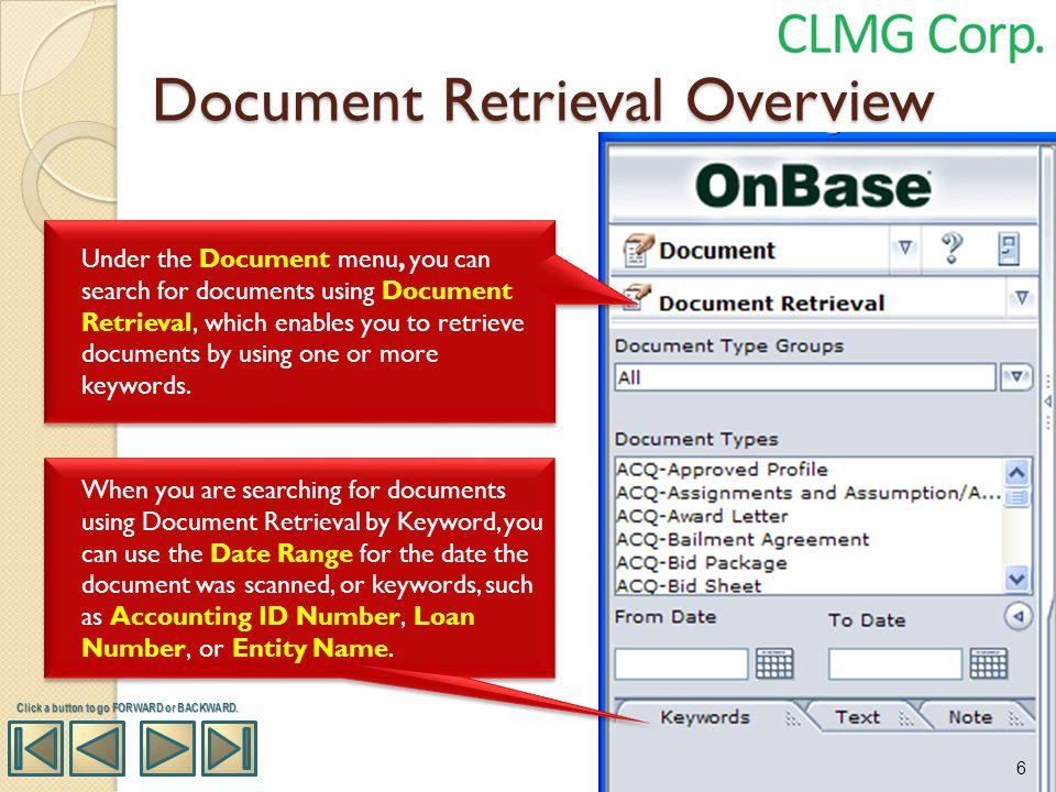 Document Retrieval Overview