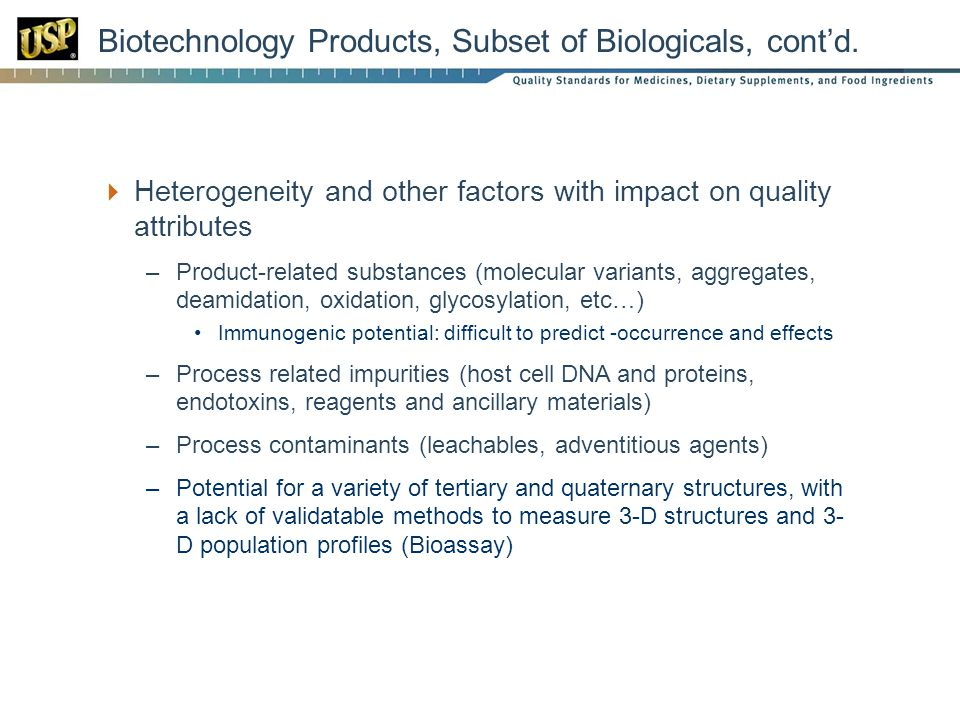 Biotechnology Products, Subset of Biologicals, cont'd.