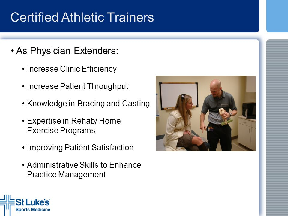 Certified Athletic Trainers