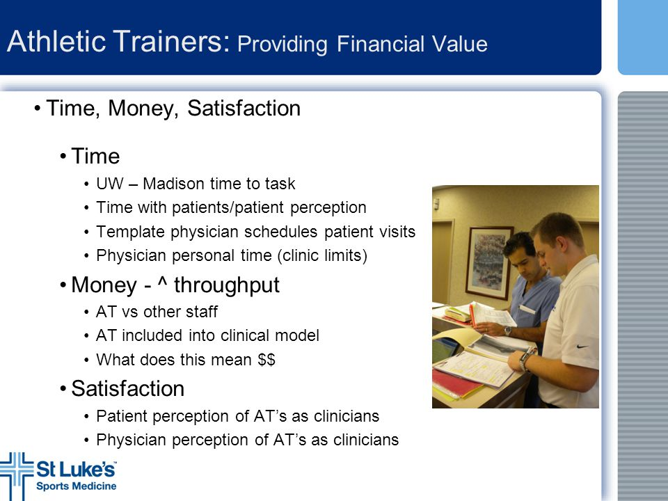 Athletic Trainers: Providing Financial Value