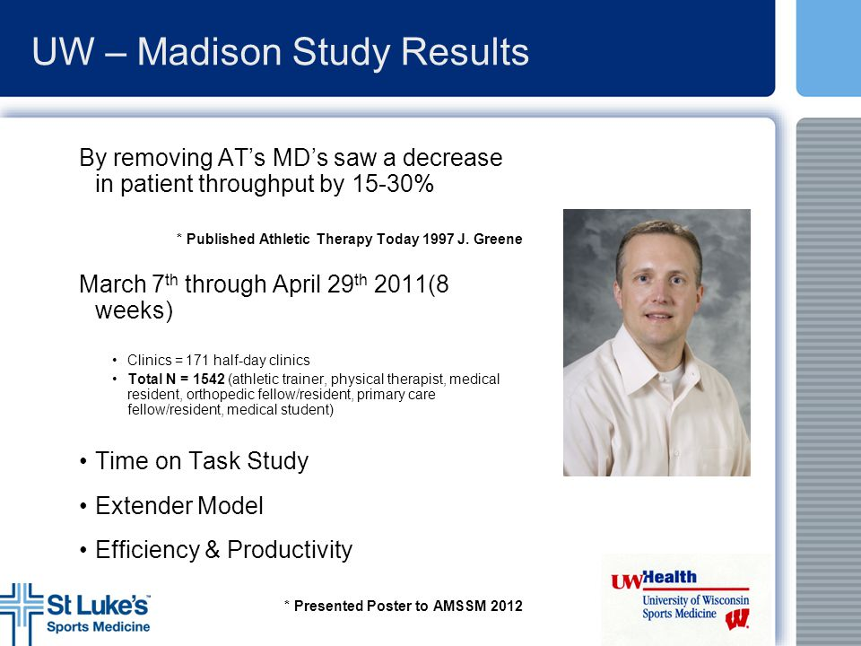 UW – Madison Study Results