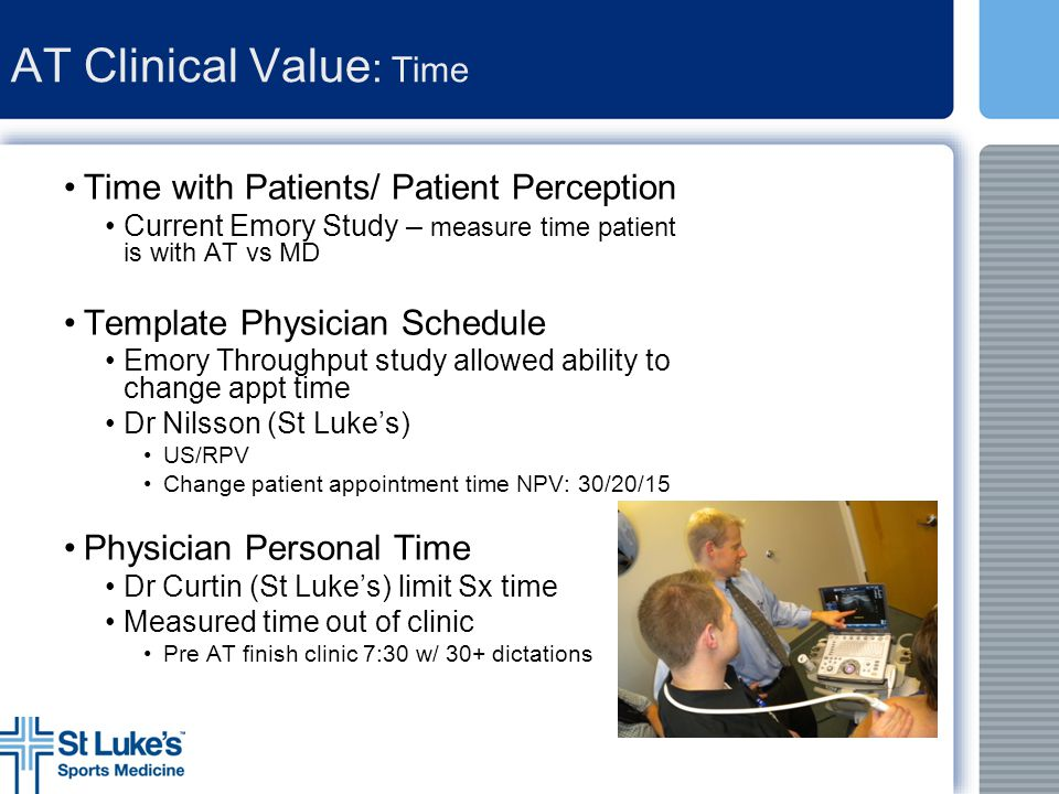 AT Clinical Value: Time