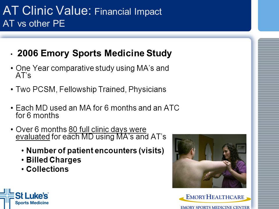 AT Clinic Value: Financial Impact AT vs other PE