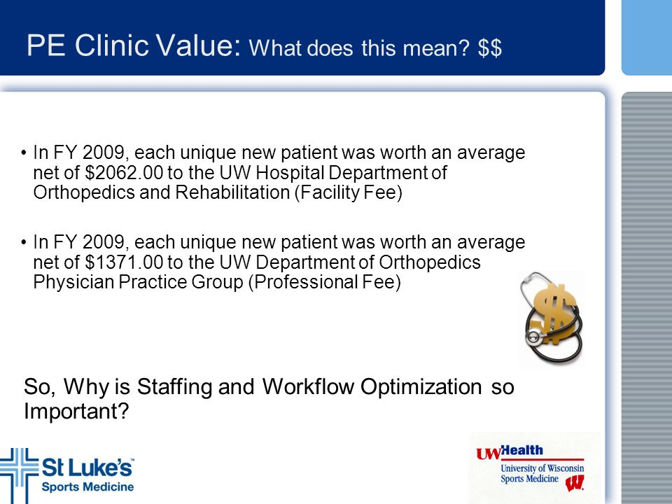 PE Clinic Value: What does this mean $$