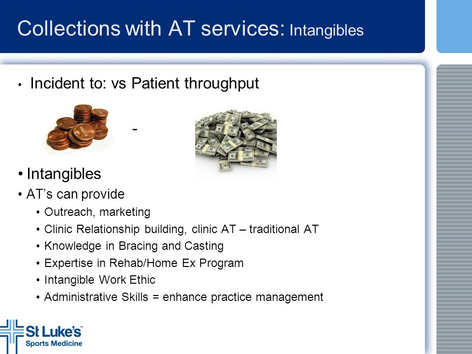 Collections with AT services: Intangibles
