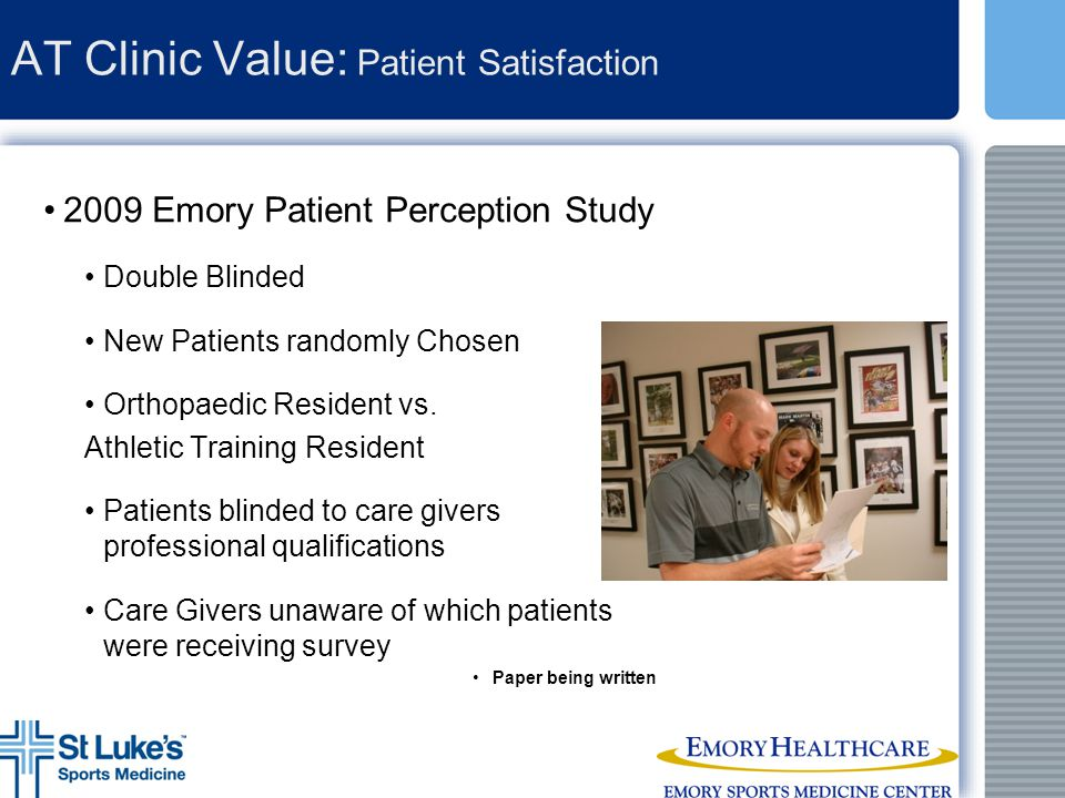 AT Clinic Value: Patient Satisfaction