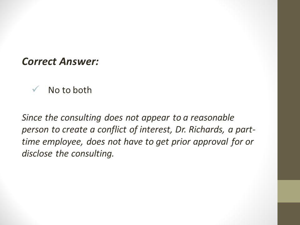 Correct Answer: No to both